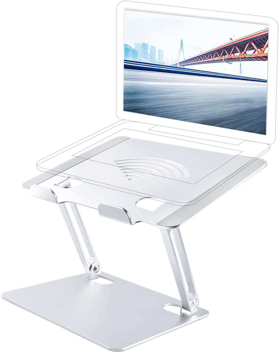 Laptop Stand, Portable Adjustable Notebook Holder Riser for MacBook Air Pro All Laptops Up to 17