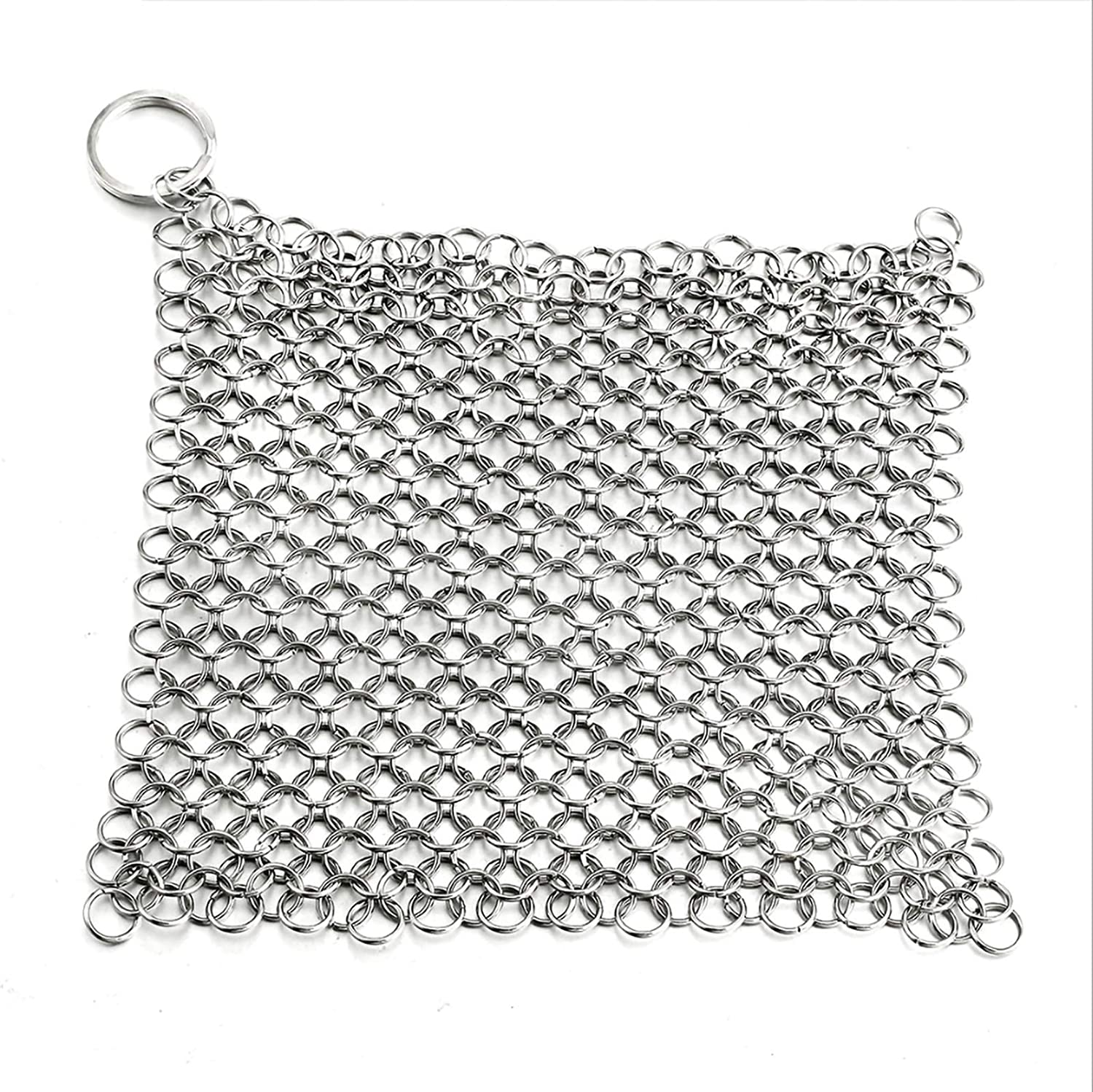 Dishwashing Net 316 Stainless Steel, Kitchen Hanging Square And Non-manual Brush Chain, Suitable For Washing Dishes, Tableware, Tableware, Kettles (Color : Silver, Size : 4 inch)