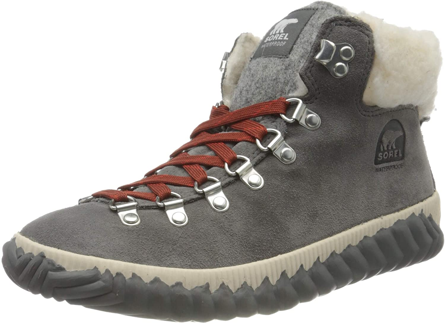 Sorel - Womens Out 'N About Plus Conquest Waterproof Suede Boot, Quarry, 7 M US