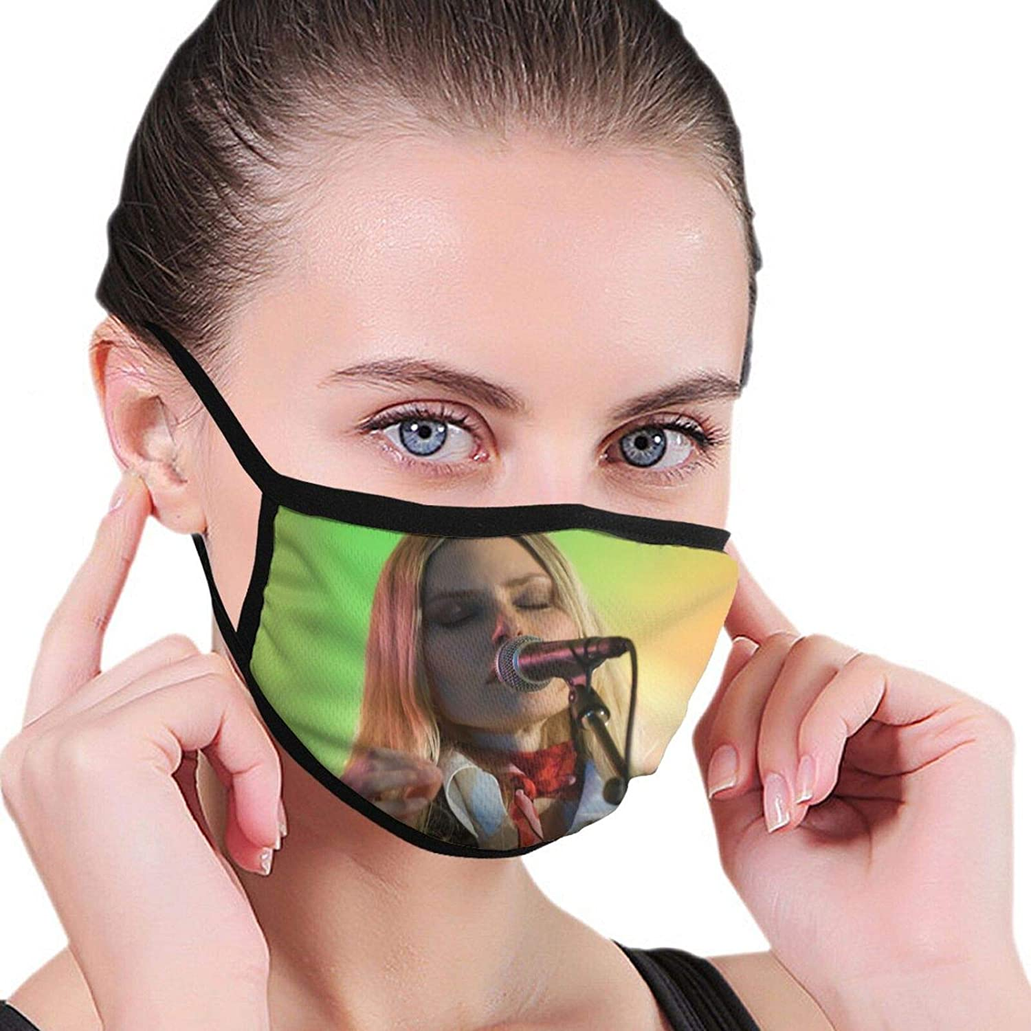 Aimee Mann Outdoor Breathable Washable Mask Unisex with Elastic Ear Loop Mask Black
