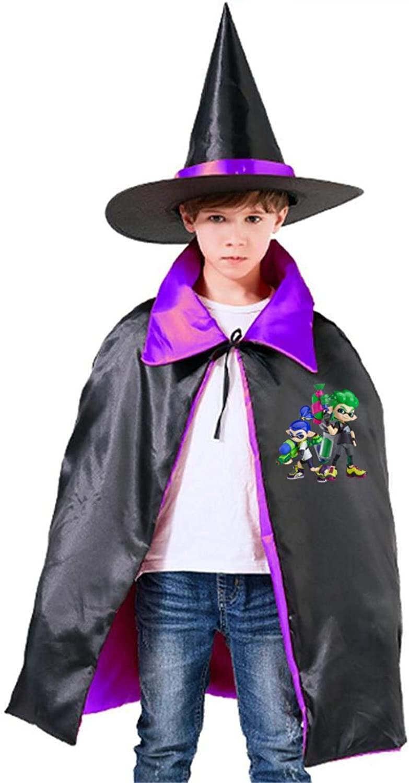 EELMOOR Spla-toon Boy Halloween Wizard Witch Kids Cape with Hat Party Cloak