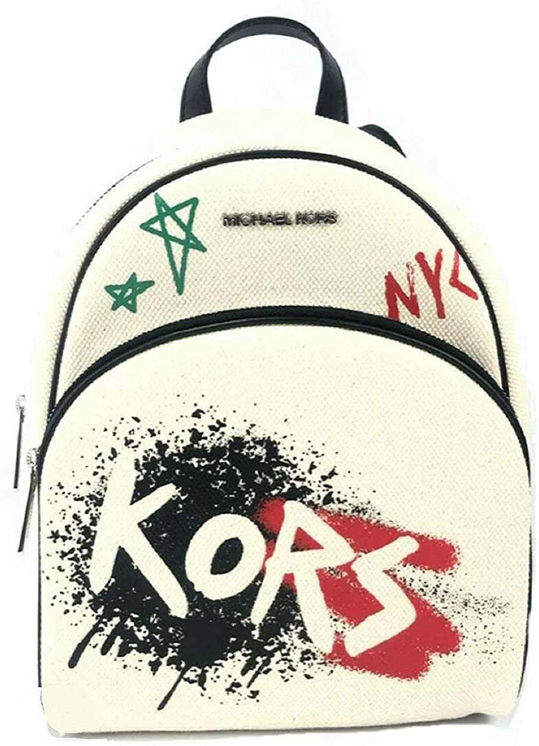 Michael Kors Medium Abbey Graffiti Backpack Bookbag Bag Light Cream