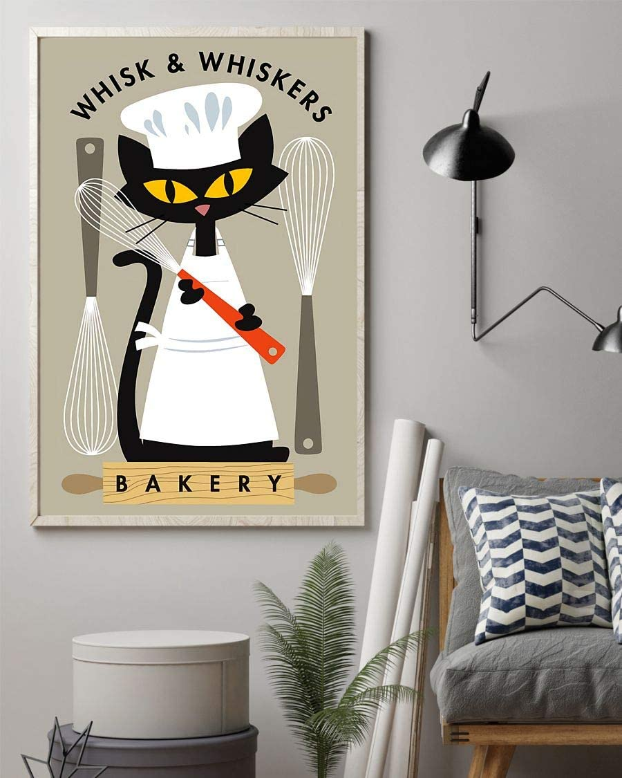 Dzeetee Whisk and Whiskers Bakery Baking Poster