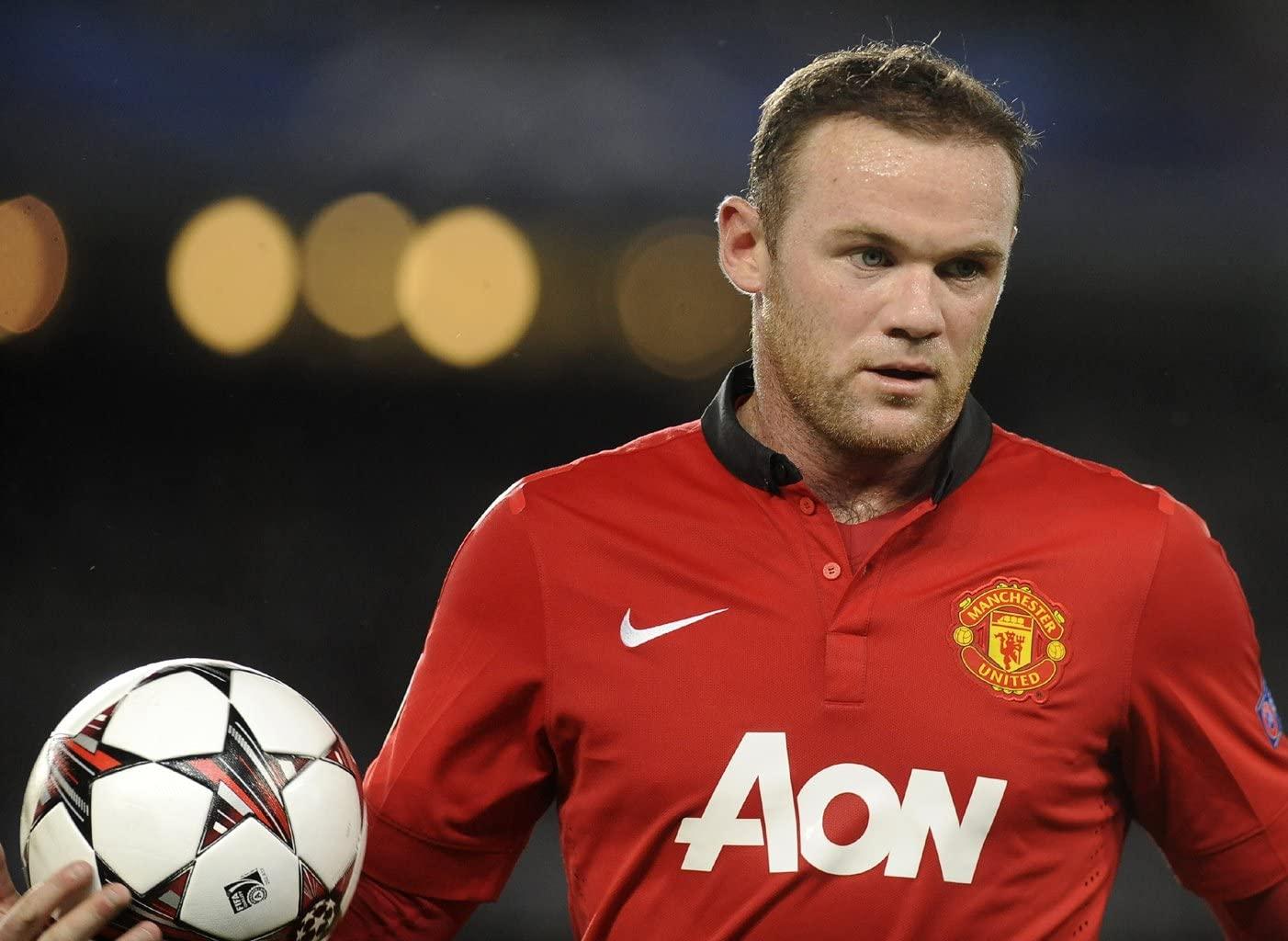Prints for Me Wayne Rooney - Manchester United F.C. England #03-18X24 Metal Aluminum Wall Art
