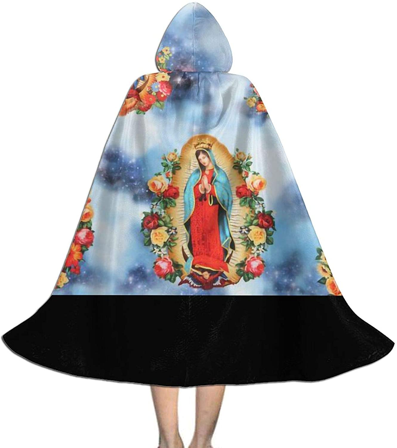 LNUO-1 Unisex Virgin Mary Religious Catholic Kids Long Hooded Cloak Cape for Halloween Party Role Cosplay Costumes