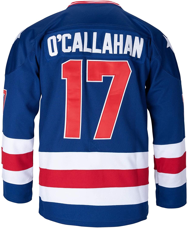21 Mike Eruzione 1980 Miracle On Ice USA Team 17 Jack O'Callahan 30 Jim Craig Ice Hockey Jersey