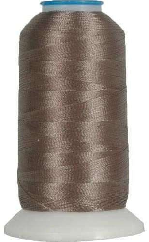 Threadart Polyester Machine Embroidery Thread By the Spool - No. 418 - Taupe - 1000M - 40wt - 220 Colors Available