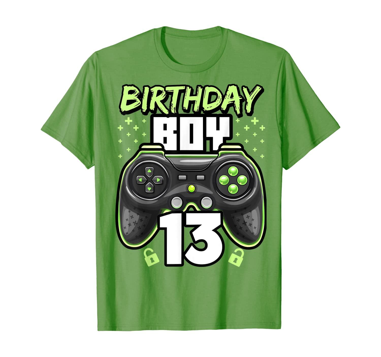 Birthday Boy 13 Video Game Controller Gamer 13th Birthday T-Shirt