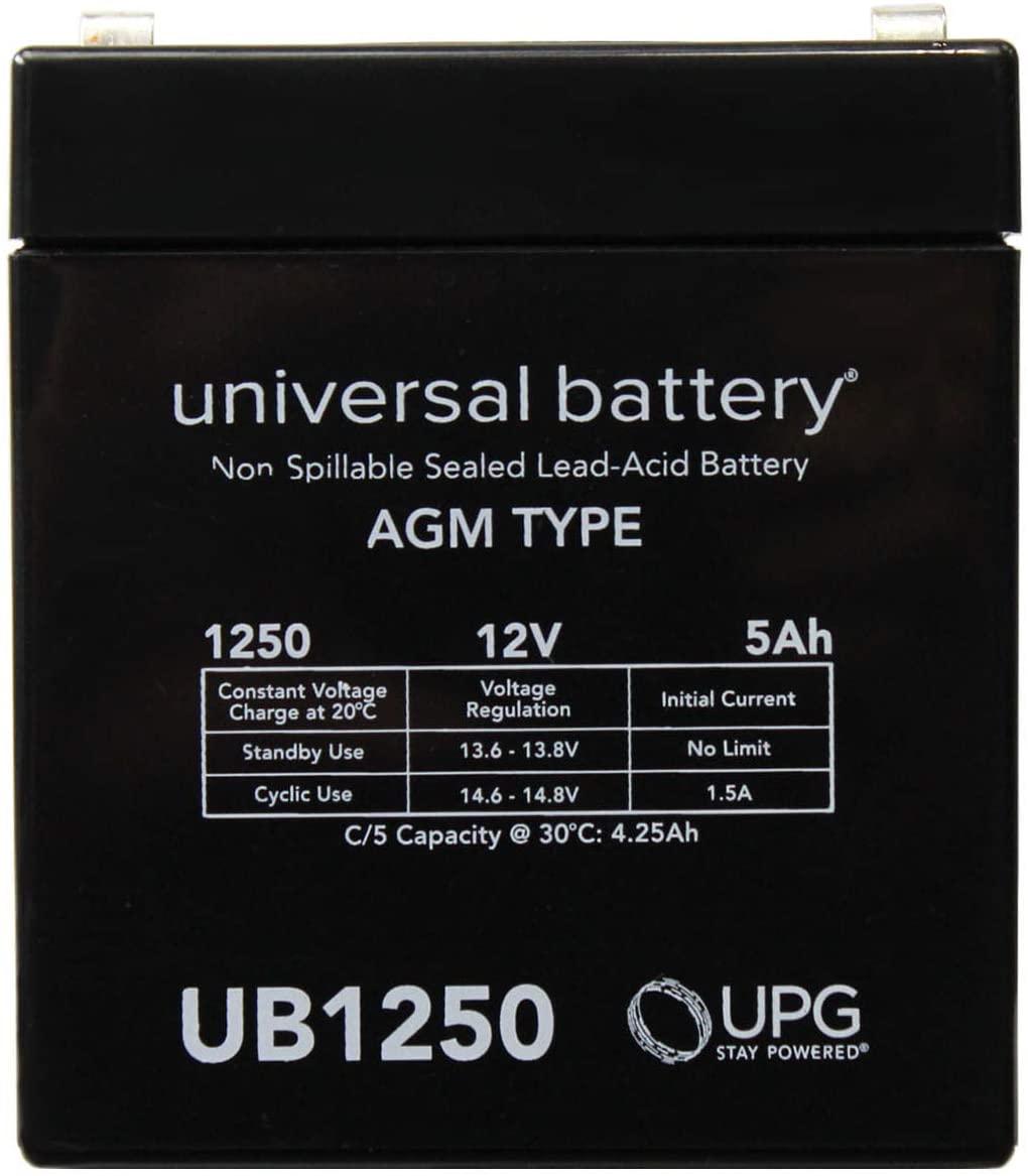 Universal Power Group 12V 5AH SLA Battery Replacement for Xantrex XPower Solar Jump Starter
