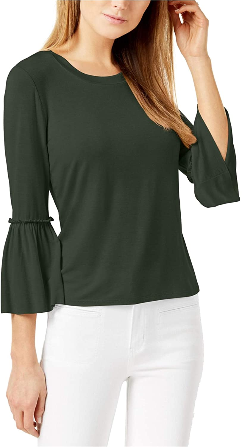 Maison Jules Womens Bell Sleeve Basic T-Shirt