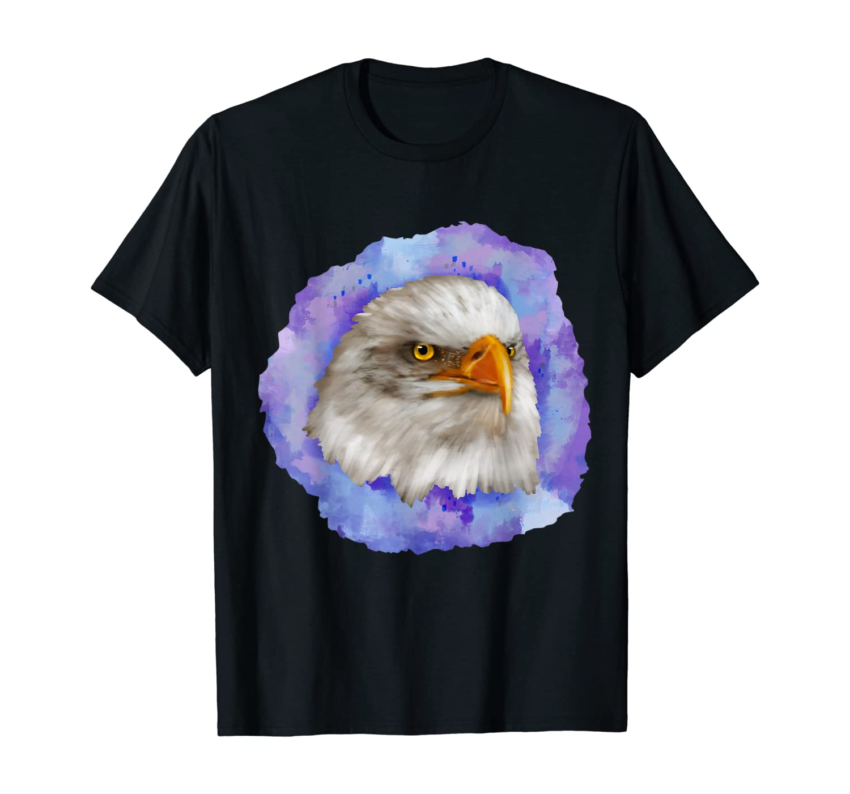 Watercolors Eagles Face Clothes Pastel Gift Bald Eagle T-Shirt