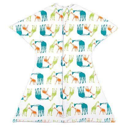 SleepingBaby Animal Zipadee-Zip Swaddle Transition Baby Swaddle Blanket with Zipper, Cozy Baby Swaddle Wrap and Baby Sleep Sack (Large 12-24 Months | 26-34 lbs, 33-37 inches | Giraffe Jungle)