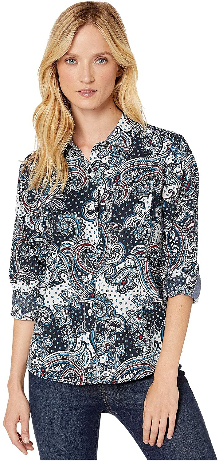 Tommy Hilfiger Roll Tab Blouse - Paisley