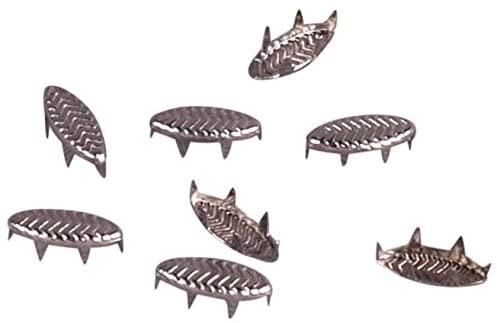 Porcelynne Silver Metal Leaf Decorative Vintage Studs Leathercraft DIY Punk Spikes Spots Studs Goth Nailhead - 9mm - 100 Pieces