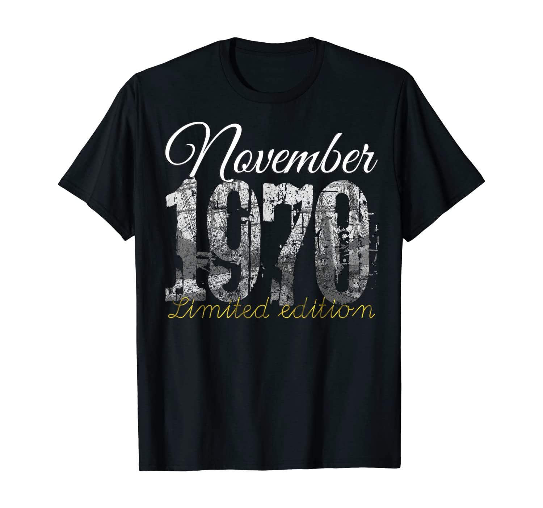 November 1970 Tee 50 Year Old Shirt 1970 50th Birthday Gift T-Shirt