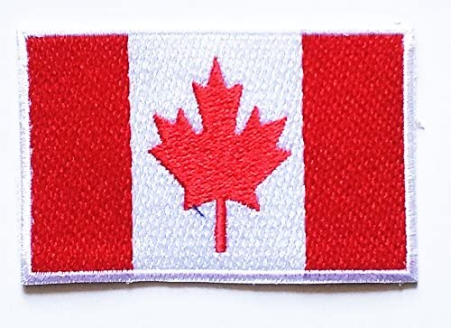 HHO Mini Canada Flag National flag Patch Embroidered DIY Patches, Applique Sew Iron on for everyone Craft Patch for Bags Jackets Jeans Clothes Patch Jacket T-shirt Sew Iron on Costume
