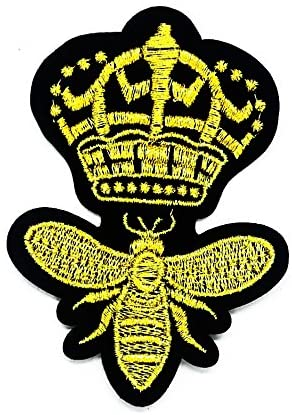 Insect Crown Cartoon Kids Patch Ideal for adorning Your Jeans, Hats, Bags, Jackets and Shirts.