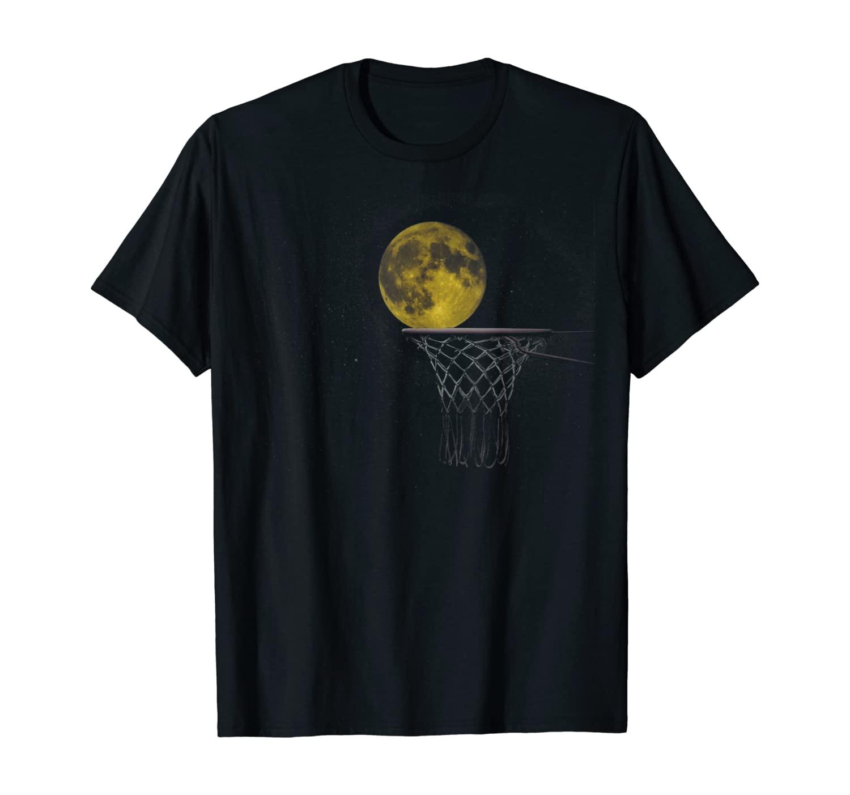 Funny Full Moon Basketball Great Gift T-Shirt