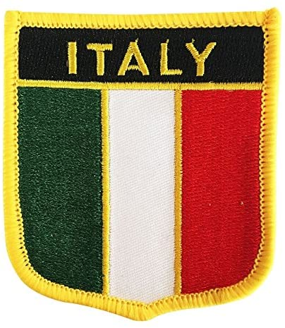 Italy Flag Badge Patch/Emblem Embroidered Iron-On Italiano Morale Patches (Italian Crest, 2.75
