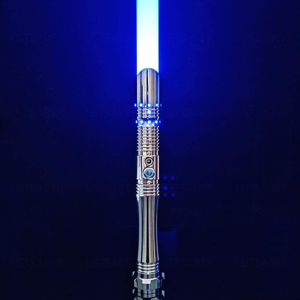 Ciel Tan Force FX Lightsaber for Adult 6 Sound Fonts Light Saber with RGB 12 Color to Change Realistic Blaster Sound Lightsabers of Metal Hilt Lightsaber Toy with 1 inch Saber Blade