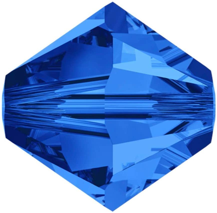 50pcs 8mm Adabele Austrian Bicone Crystal Beads Sapphire Compatible with Swarovski Crystals Preciosa 5301/5328 SSB813