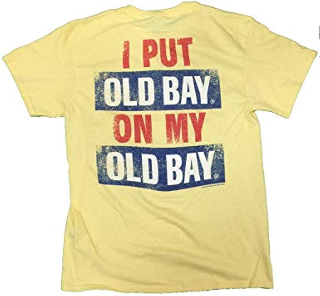 Maryland My Maryland Men's Officially Licensed I Put Old Bay On My Old Bay T-Shirt (Small)