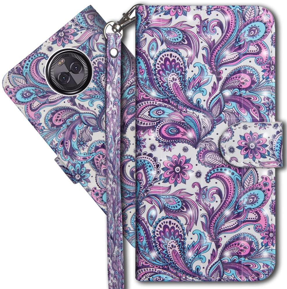 Moto X4 Wallet Case, Motorola X4 Premium PU Leather Case, COTDINFORCA 3D Creative Painted Effect Design Full-Body Protective Cover for Motorola Moto X4 2017 (5.2