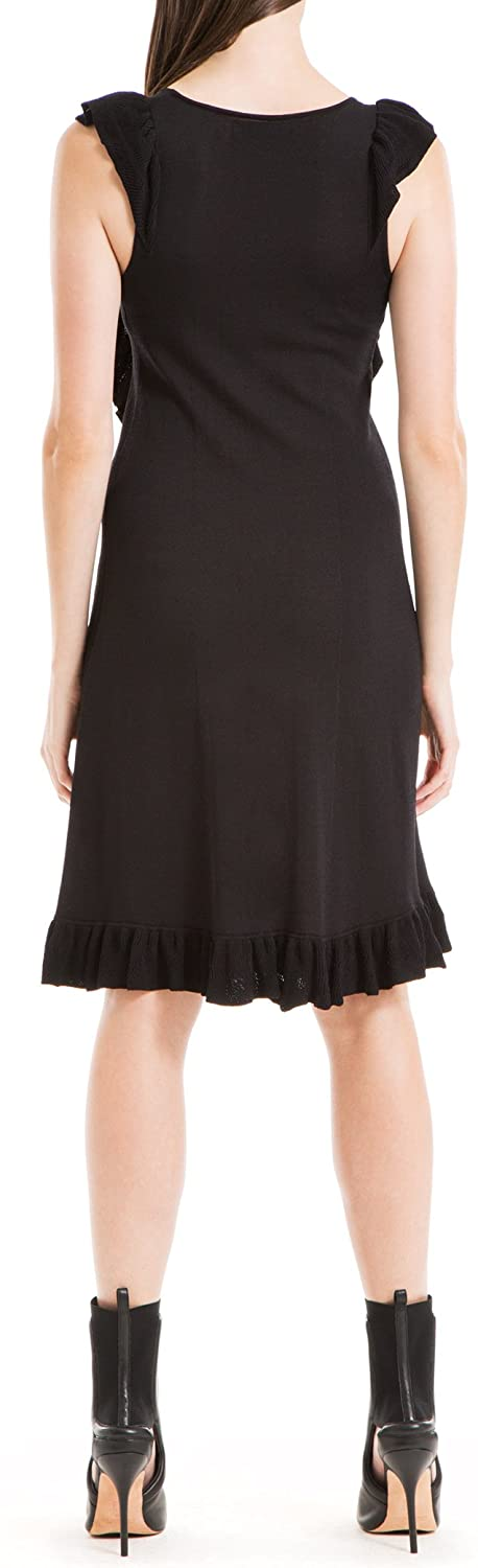 Max Studio London Womens Ruffled Sweater Dress