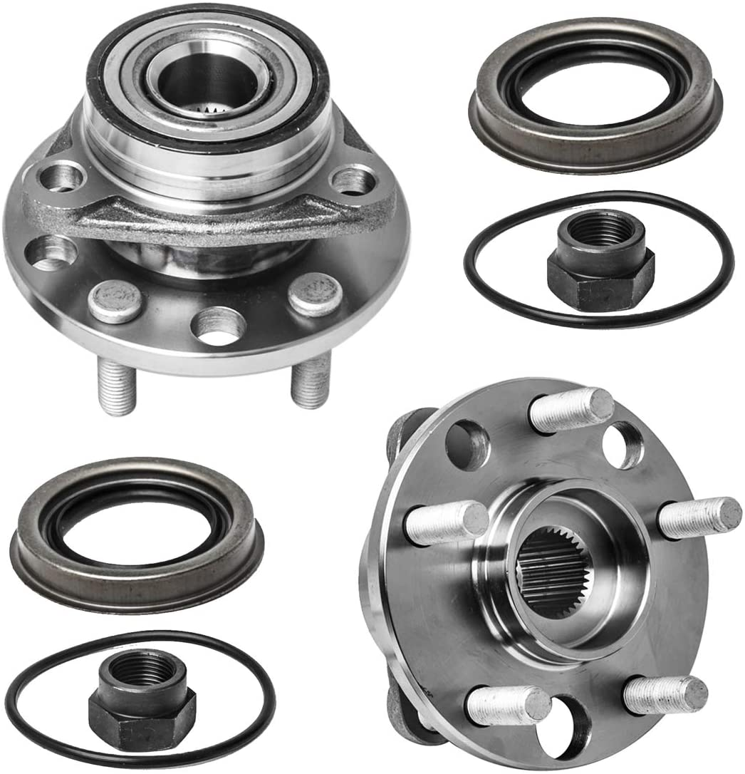 Front Wheel Hub and Bearing Assembly Left or Right Compatible Buick Skylark Chevrolet Cavalier Olds Firenza Pontiac Grand Am Sunbird Sunfire Grand Am AUQDD 513017 x2 (Pair) [ 513017K 5 Lug ]