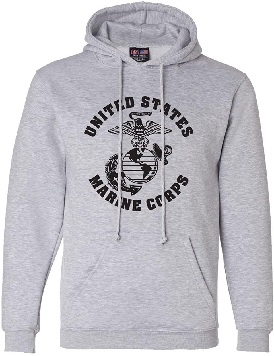 Large Marine Corps Design Hooded Sweatshirt