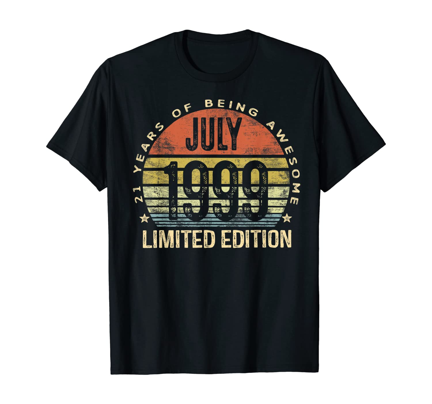 July 1999 Limited Edition 21st Birthday 21 Year Old Gift T-Shirt