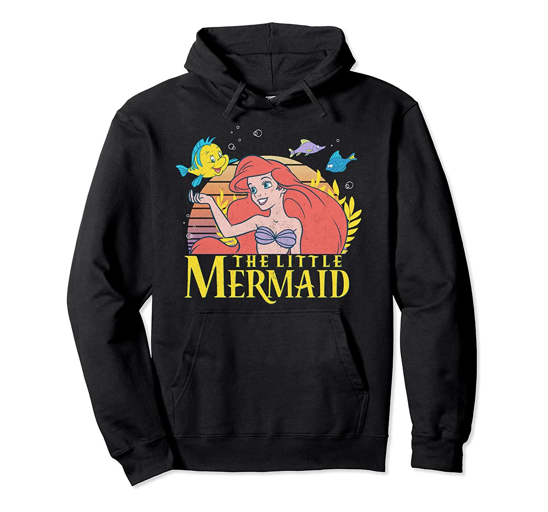 Disney Little Mermaid Ariel Flounder Logo Graphic Hoodie