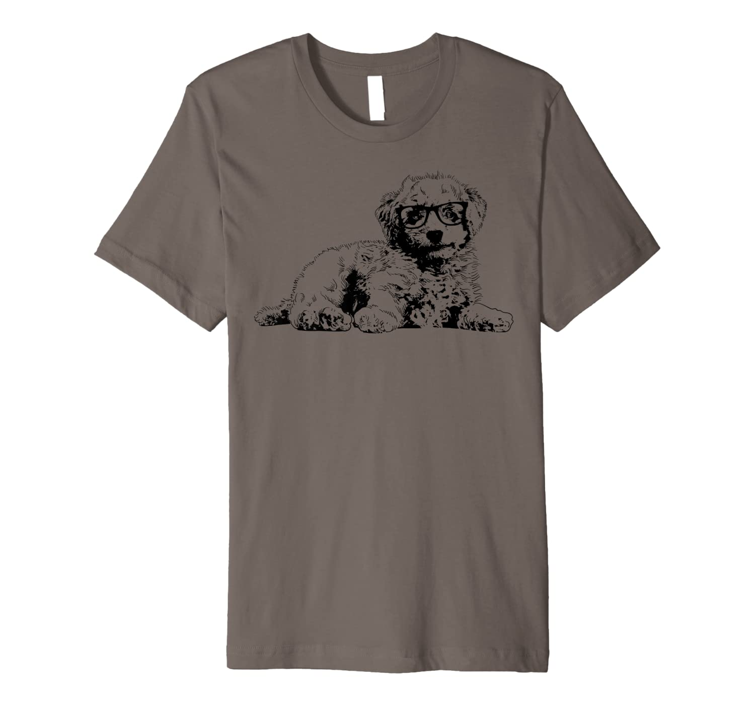 Funny Doodle With Glasses | Cute Dog Lovers Boys Girls Gift Premium T-Shirt