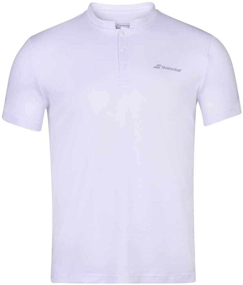 Babolat Boy's Play Tennis Polo, White/White (US Youth Size 6-8)