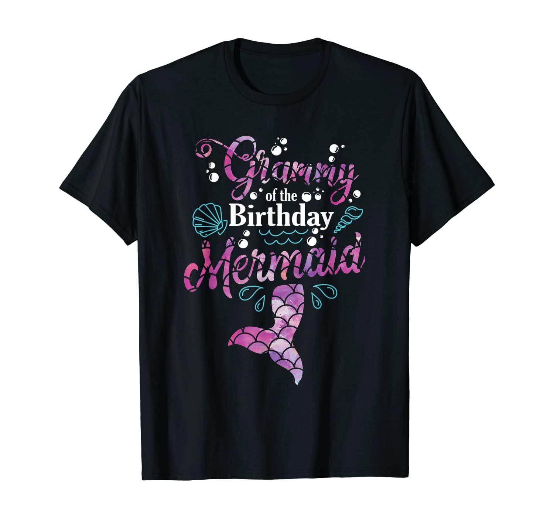 Grammy Of The Birthday Mermaid Matching Mermaid Grandma T-Shirt