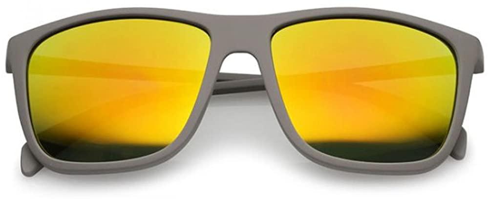 Fashion Culture Unisex Shady Soft Rubberized Square Mirror Lens Sunglasses