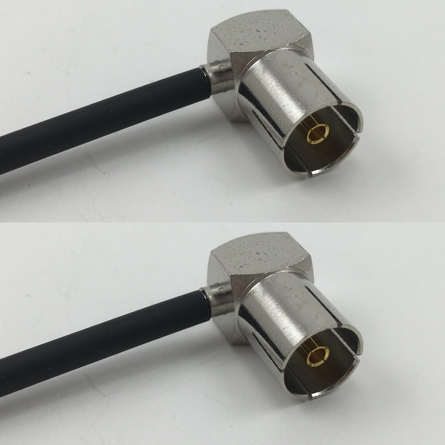 6 inch RG188 DVB Pal Female Angle to DVB Pal Female Angle Pigtail Jumper RF coaxial cable 50ohm High Quality Quick USA Shipping