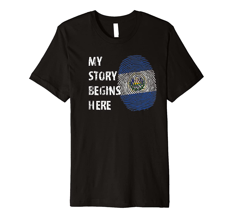 El Salvador Heritage El Salvadorian Roots Premium T-Shirt