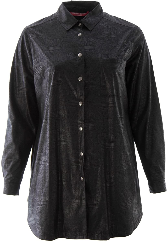 Marina Rinaldi Women's Fabriano Snake Embossed Shirt Jacket