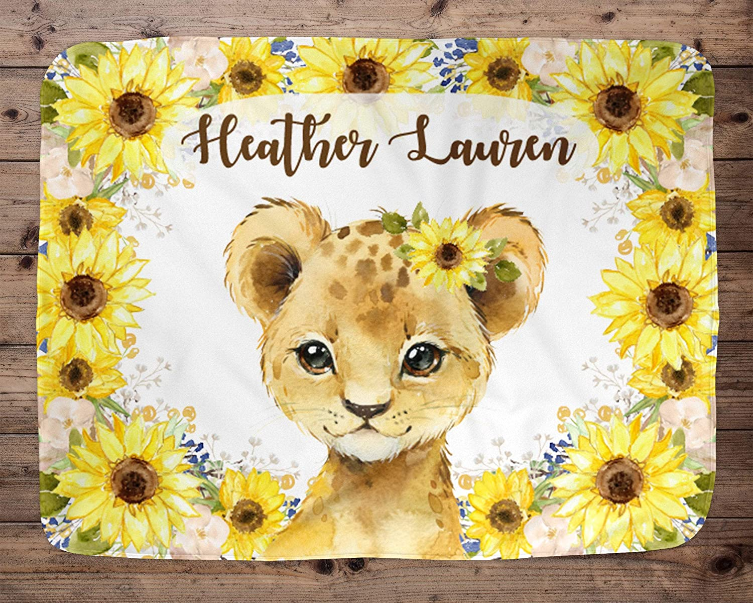 Lion Personalized Baby Blanket
