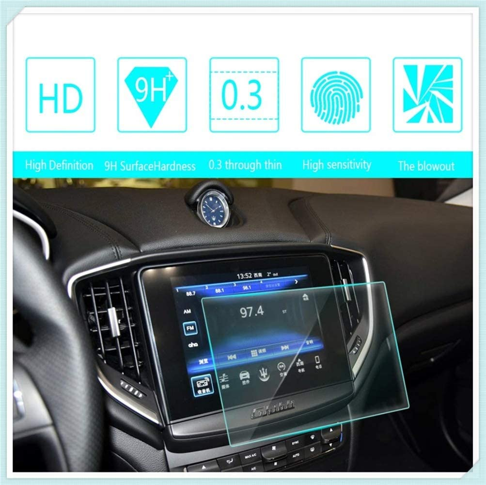 for Maserati Ghibli 2017 2018 Navigation Screen Protector Touch Screen Display Film 9H Hardness Anti Glare Anti Scratch GPS Screen Protector Foils