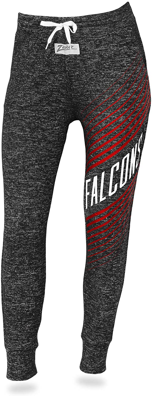 Zubaz NFL Atlanta Falcons Female Joggers, Small, Gray