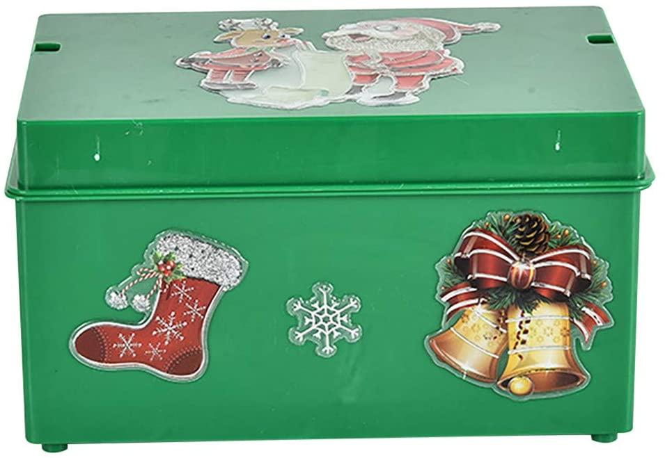 fghjj wihakdh 1 Piece Luminous Music Box, Christmas Music Box, Electric Elderly Santa Sing, Christmas Music Box Decoration