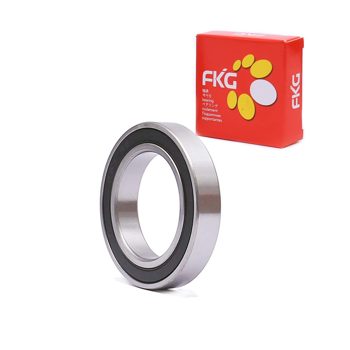 FKG 6907-2RS 35x55x10mm Deep Groove Ball Bearing Double Rubber Seal Bearings Pre-Lubricated 1 Pcs