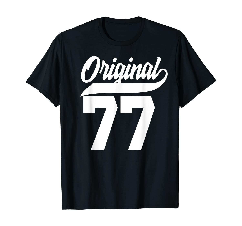 43th Birthday Gift Man Woman Original Vintage Born 1977 T-Shirt