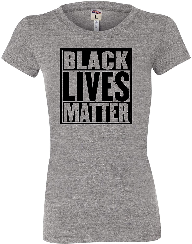 Go All Out Womens Black Lives Matter Tri-Blend T-Shirt