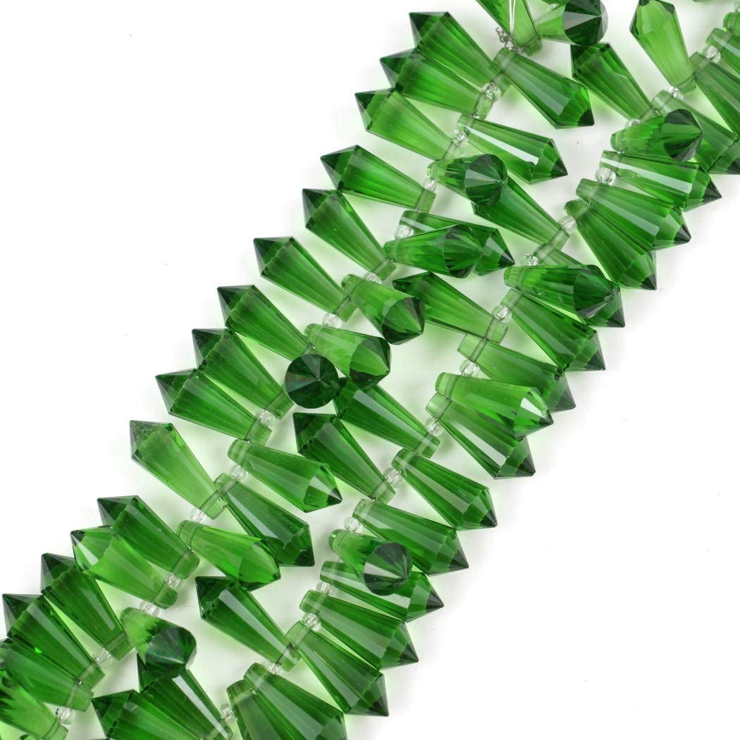 20pcs Czech Top Drilled 20mm Large Teardrop Pendant Prism Loose Beads Peridot Green for Jewelry Craft Making Supplies CCD816