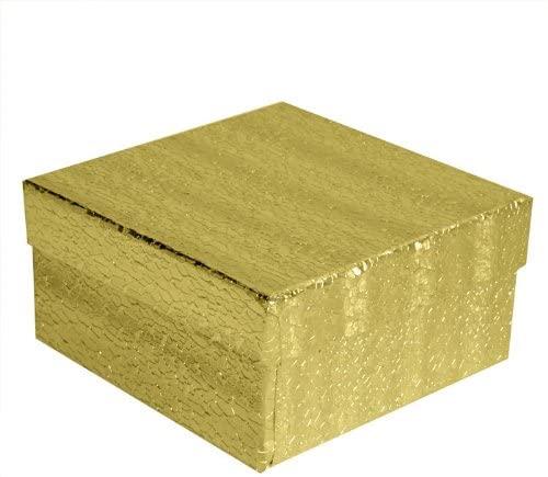 Custom Printed Gold Cotton Filled Box #34~100 Per Pack