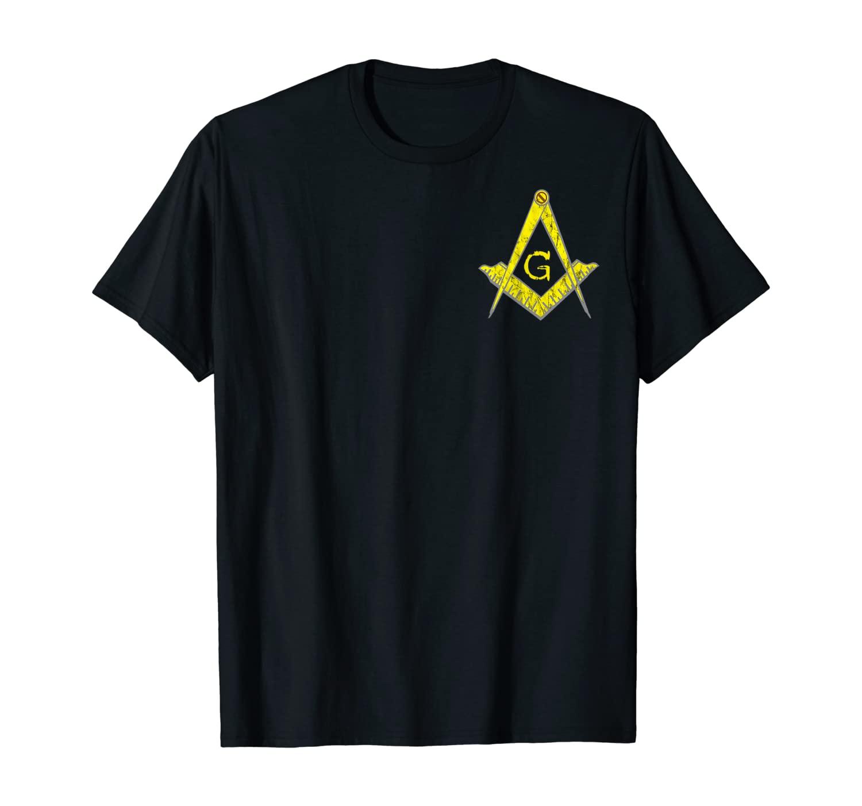 Masonic Symbol Freemason Mason Crest PHA Lodge Fraternal T-Shirt