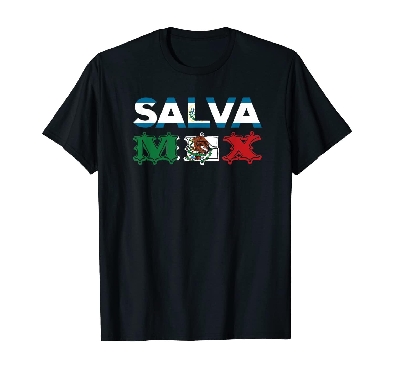 Salvadorian Mexican El Salvador Mexico Mujer Woman Pupusas T-Shirt